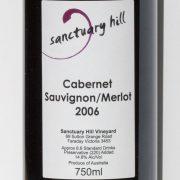 Sanctuary Hill Cabernet Sauvignon / Merlot 2006 Label