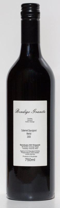 Bendigo Granite Cabernet Sauvignon / Merlot 2005 Bottle