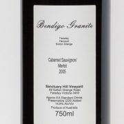 Bendigo Granite Cabernet Sauvignon / Merlot 2005 Label